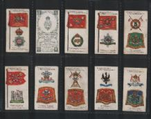 Cigarette cards Badges & Flags of British Regiment set